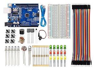 Kit Uno SMD Básico Iniciante Baseado No Arduino Ide C/ 80 PEÇAS
