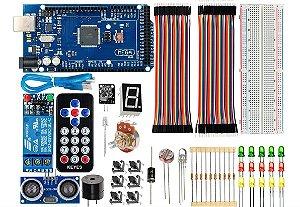 Kit Placa Mega CH340- Básico Iniciante - Para Arduino - Ide