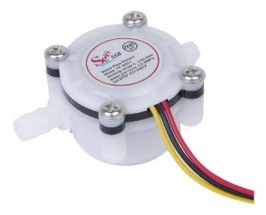 Sensor de Fluxo de Água 0,3-6 L/min Vazão Para Arduino