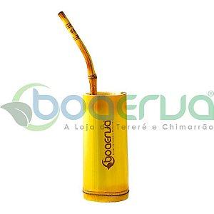 Copo e Bomba de Bambu p/ Tereré
