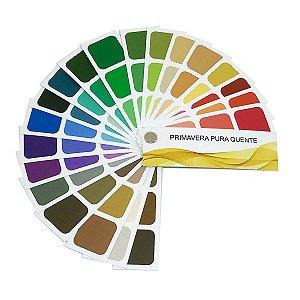 Cartela de Coloração Pessoal - Primavera Pura Quente