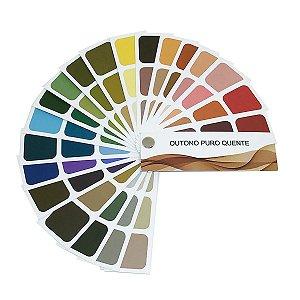 Cartela de Coloração Pessoal - Outono Puro Quente