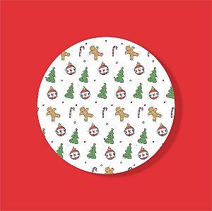 Cake Board Estampado Redondo - Stickers Natal Nº2