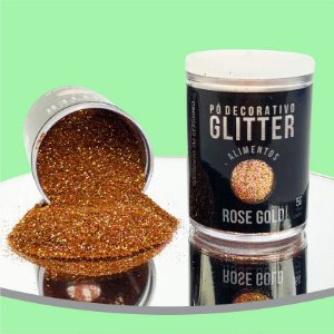 Pó Glitter Rose Gold 5g