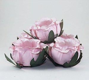 Forminha Botão de Rosa 50 Unidades Rosa Chá