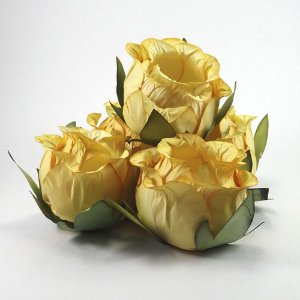 Forminha Botão de Rosa 50 Unidades Amarelo