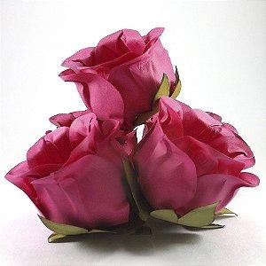 Forminha Botão de Rosa 2 Camadas Pink 20 Unidades