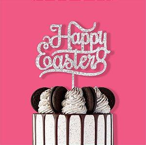 Topo de Bolo Happy Easter