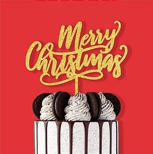 Topo de Bolo Merry Christmas Nº2