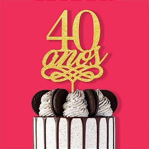 Topo Bolo 40 Anos