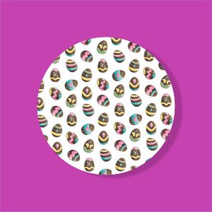 Cake Board Estampado Redondo - Ovinhos de Chocolate
