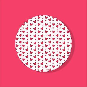 Cake Board Estampado Redondo - Coração