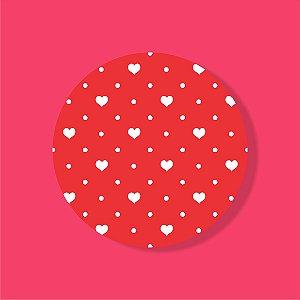 Cake Board Estampado Redondo - POA Coração