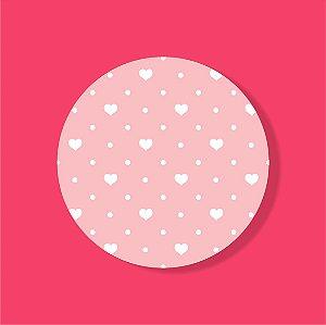 Cake Board Estampado Redondo - POA Coração (Dois)