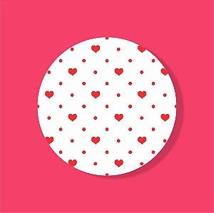 Cake Board Estampado Redondo - POA Coração (Três)