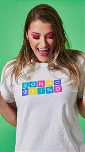 Camiseta Feminina Cubo Branca