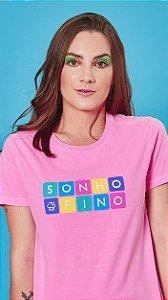 Camiseta Feminina Cubo Rosa