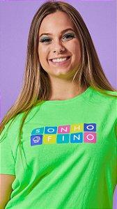 Camiseta Feminina Cubo Verde