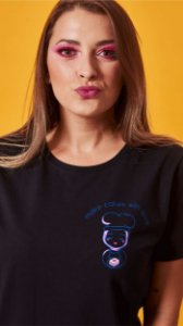 Camiseta Feminina Make Cake With Love Preta