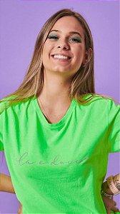 Camiseta Feminina Frase Fouet Verde