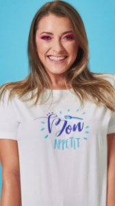 Camiseta Feminina Bon Appetit Branca