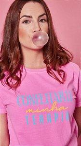Camiseta Feminina Confeitaria minha Terapia Rosa