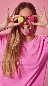 Camiseta Feminina Metal Rosa