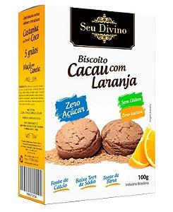Biscoito Zero Açúcar - Cacau com Laranja - Sem Glúten, Sem Leite e Sem Soja - 100g