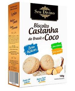Biscoito Zero Açúcar - Castanha do Brasil e Coco - Sem Glúten, Sem Leite e Sem Soja - 100g