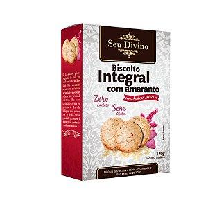 Biscoito Integral com Amaranto de 120g - Sem Glúten, Sem Leite e Sem Soja