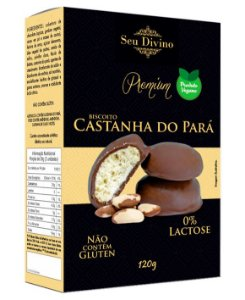 Biscoito de Castanha do Pará Vegano - Sem Glúten e Sem Leite - 120g