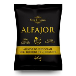 Alfajor Vegano de Chocolate com Recheio de Chocolate - 40g
