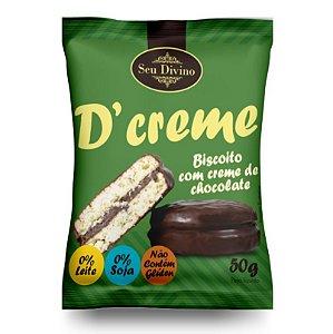 10 unidades do Dcreme - Biscoito Recheado com Chocolate - Sem Glúten, Sem Leite e Sem Soja - 50g