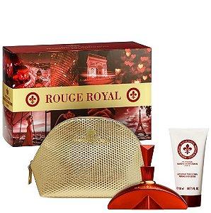 Kit Rouge Royal Marina de Bourbon Feminino Eau de Parfum 100ml + Loção Corporal 150ml + Nécessaire