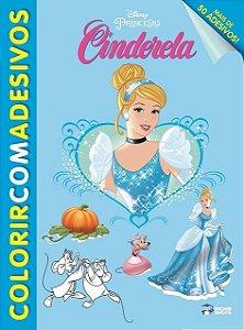 Colorir Com Adesivos - CINDERELA