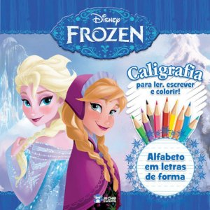 Caligrafia Frozen - ALFABETO EM LETRAS DE FORMA