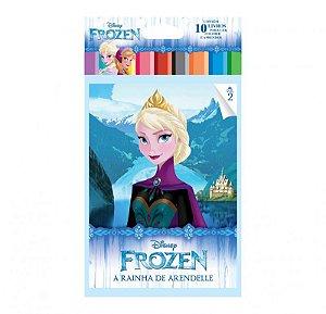 Disney Solapa Média Colorir - FROZEN