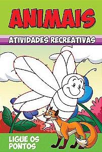Animais - Atividades Recreativas - LIGUE OS PONTOS - PCT C/ 10 LIVROS