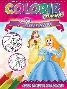 Colorir Animada - PRINCESAS