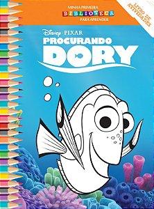 Disney Mini Biblioteca Colorir  - PROCURANDO DORY