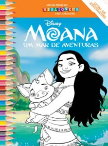 Disney Mini Biblioteca Colorir  - MOANA