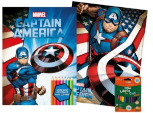Marvel Kit Diversao - CAPTAIN AMERICA