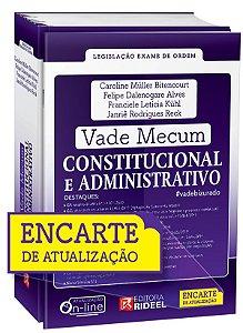 PRÉ-VENDA - Vade Mecum Constitucional e Administrativo - 1ª edição - ENCARTE