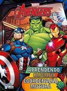 Coleção Aprendendo Caligrafia Marvel - COORDENAÇÃO MOTORA
