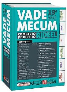 Vade Mecum Compacto de Direito Rideel - 19ª edição – 1º SEMESTRE 2020