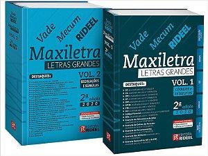 Vade Mecum Maxiletra Rideel - Letras Grandes - 2 volumes - 2ª edição
