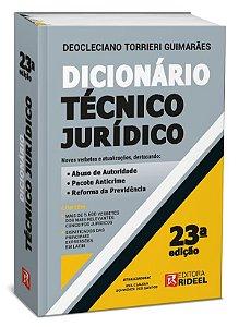Dicionário Técnico Jurídico - 23ª edição