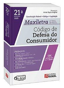 Código de Defesa do Consumidor – MAXILETRA – Constituição Federal + Código + Legislação - 21ª edição
