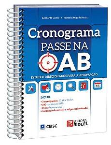 Cronograma Passe na OAB - 1ª edição