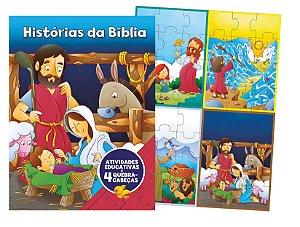 Aprender Brincando – Com 4 Quebra-Cabeças – Histórias da Bíblia